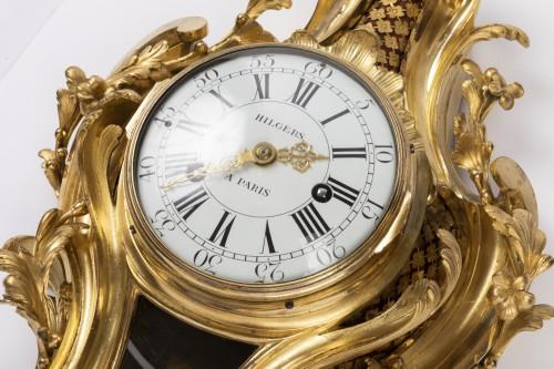 18th century - Gilded bronze clock Louis XV period mid 18th