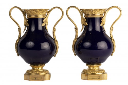 Sevres vases pair early 19th