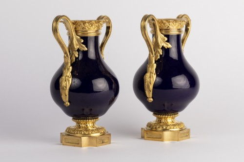 Sevres vases pair early 19th - Porcelain & Faience Style Empire
