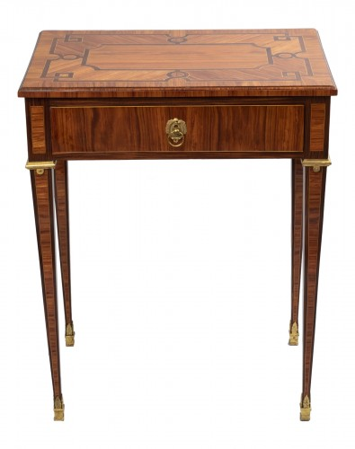 Parketry writing table Louis XVI period late 18th