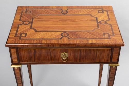Furniture  - Parketry writing table Louis XVI period late 18th