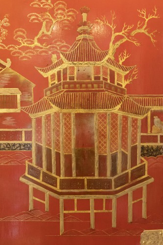 China screen 19th - Asian Art & Antiques Style