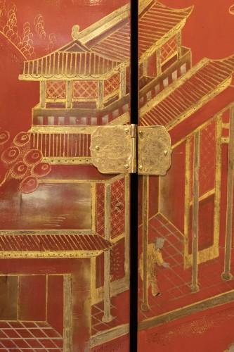 Antiquités - China screen 19th