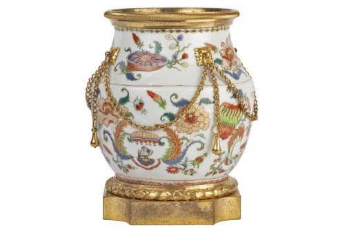 Mounted porcelain vase 18th