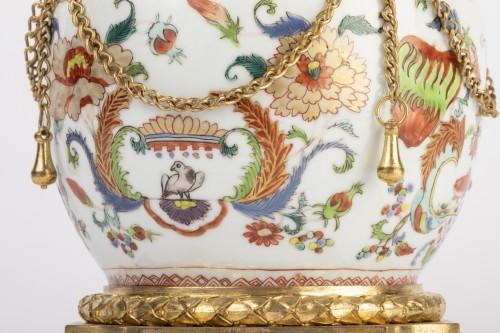 Porcelain & Faience  - Mounted porcelain vase 18th