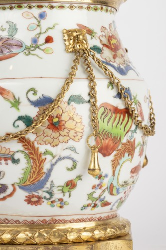 Mounted porcelain vase 18th -
