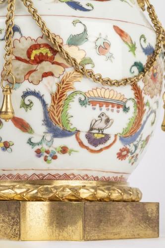 Mounted porcelain vase 18th - Louis XVI