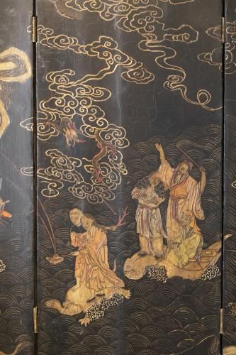8 leaves Coromandel lacquer screen late 17th - Louis XIV