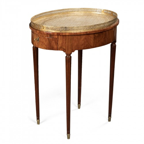French Louis XVI Mahogany table stamped Canabas