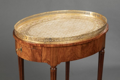 French Louis XVI Mahogany table stamped Canabas - Furniture Style Louis XVI
