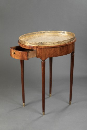 French Louis XVI Mahogany table stamped Canabas - Louis XVI