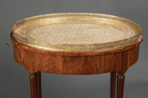 Louis XVI - French Louis XVI Mahogany table stamped Canabas