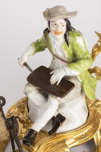 Meissen porcelain grinder Louis XV period mid 18th - Porcelain & Faience Style Louis XV