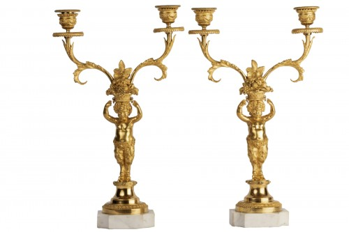 Candlesticks pair Louis XVI period late 18th