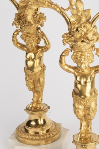 18th century - Candlesticks pair Louis XVI period late 18th