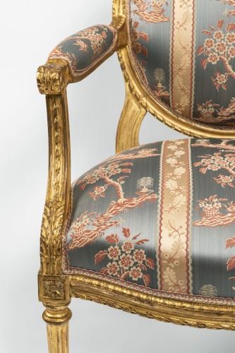 Set of four Louis XVI armchairs -