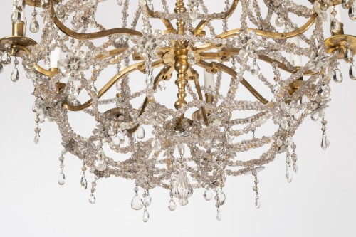 Ten lights crystal chandelier Louis XIV period early 18th - Lighting Style Louis XIV