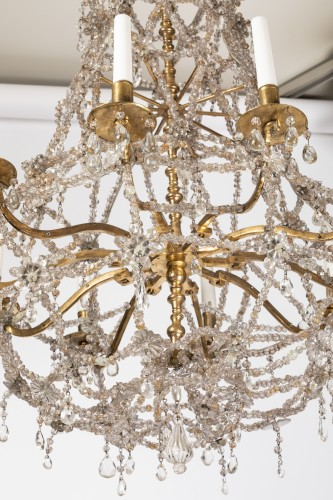 Lighting  - Ten lights crystal chandelier Louis XIV period early 18th