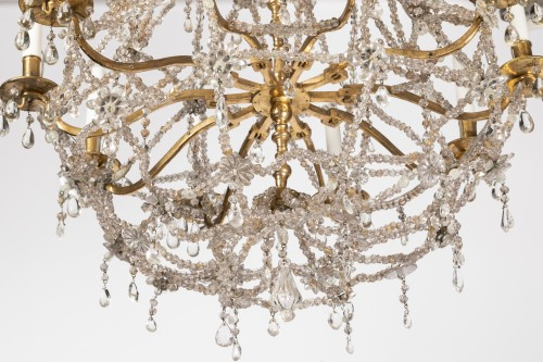 Ten lights crystal chandelier Louis XIV period early 18th -