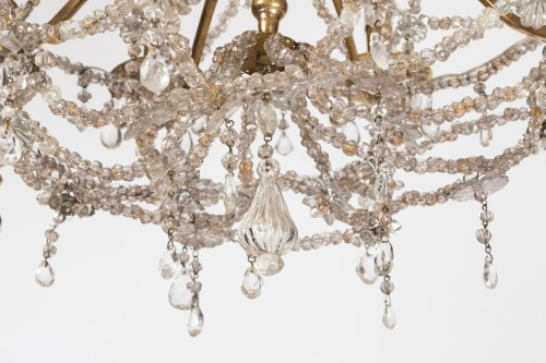 18th century - Ten lights crystal chandelier Louis XIV period early 18th