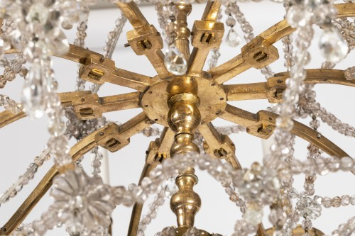 Louis XIV - Ten lights crystal chandelier Louis XIV period early 18th