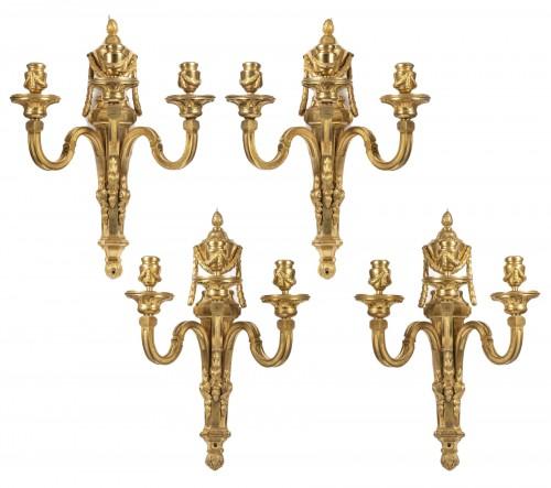 Set of four Louis XVI sconces