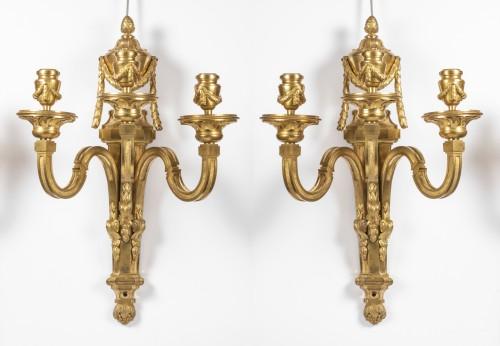 Set of four Louis XVI sconces - Lighting Style Louis XVI