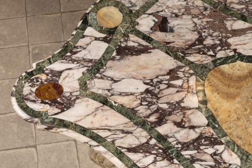 Table marbles marketry top Italy 17th -