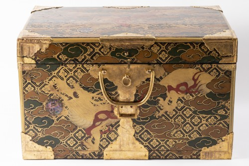 Japan lacquered chest 17th - Furniture Style Louis XIV
