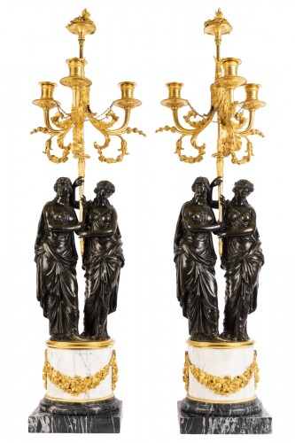 Paire of louis XVI candelabras late 18th
