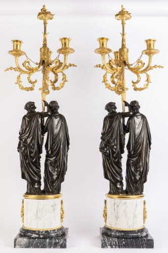 Lighting  - Paire of louis XVI candelabras late 18th