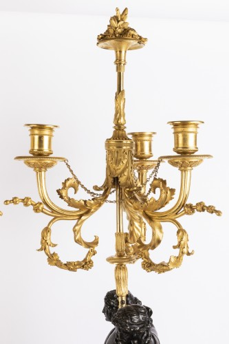 18th century - Paire of louis XVI candelabras late 18th