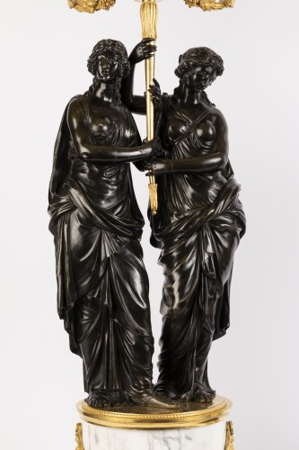 Paire of louis XVI candelabras late 18th - Louis XVI