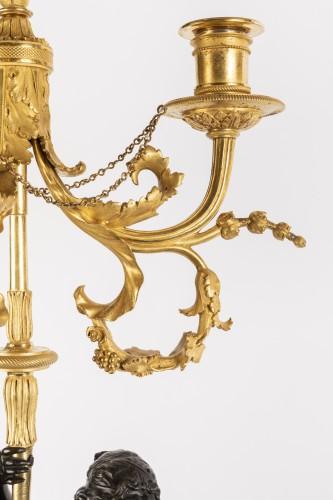 Antiquités - Paire of louis XVI candelabras late 18th