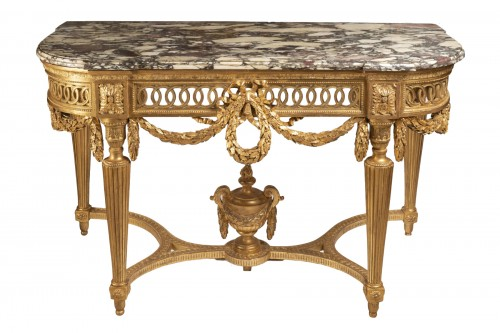 Gilded wood console Louis XVI period 18th century