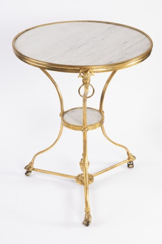 "Bronze ""gueridon"" Louis XVI period late 18th - Furniture Style Louis XVI"