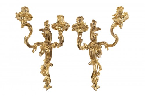 Louis XV sconces pair mid 18th