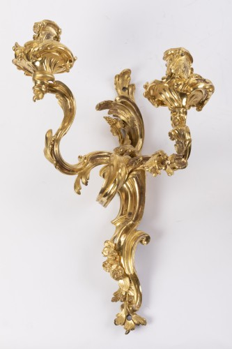 Louis XV sconces pair mid 18th - Lighting Style Louis XV