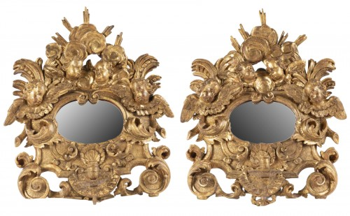 Pair mirrors Louis XIV period late 17th