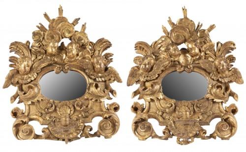 Pair mirrors Louis XIV period late 17th