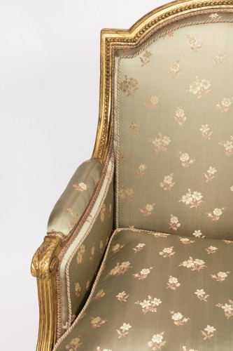 "Seating  - Louis XVI period ""bergères"" stamped SENE"