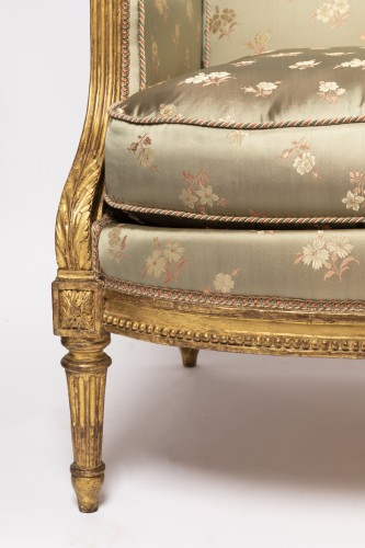 "Louis XVI - Louis XVI period ""bergères"" stamped SENE"