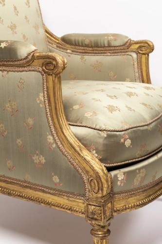 """Antiquités - Louis XVI period """"bergères"""" stamped SENE"""