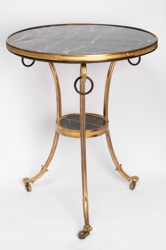 Gilded bronze guéridon Louis XVI period - Furniture Style Louis XVI