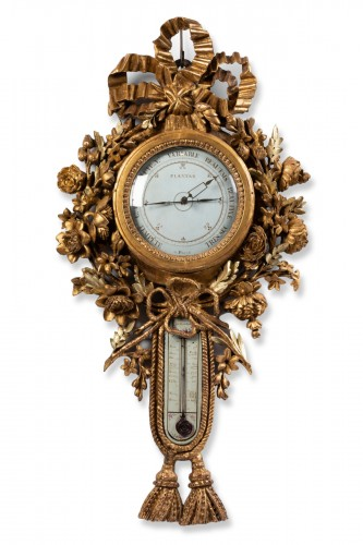 Barometer thermometer Louis XVI period