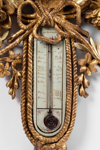 Barometer thermometer Louis XVI period - Decorative Objects Style Louis XVI