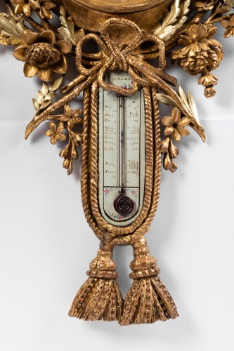 Decorative Objects  - Barometer thermometer Louis XVI period