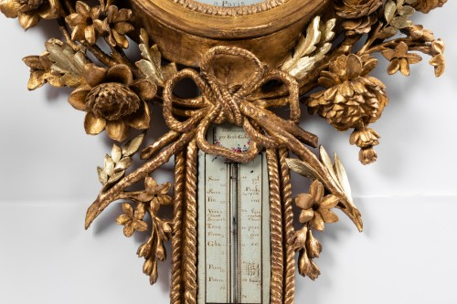 Barometer thermometer Louis XVI period -