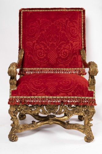 Two wide armchairs Louis XIV period - Seating Style Louis XIV