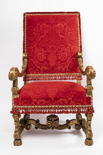 Seating  - Two wide armchairs Louis XIV period